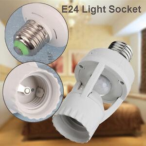 E27 B22 Light Bulb Socket Adapter Screw Infrared Pir