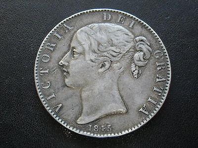 Victoria 1845 Crown (Fine-gFine)