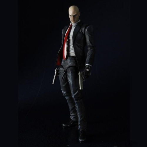 Play Arts Kai Hitman Codename Killer 47 Action Figures Model Statue Toy Gift