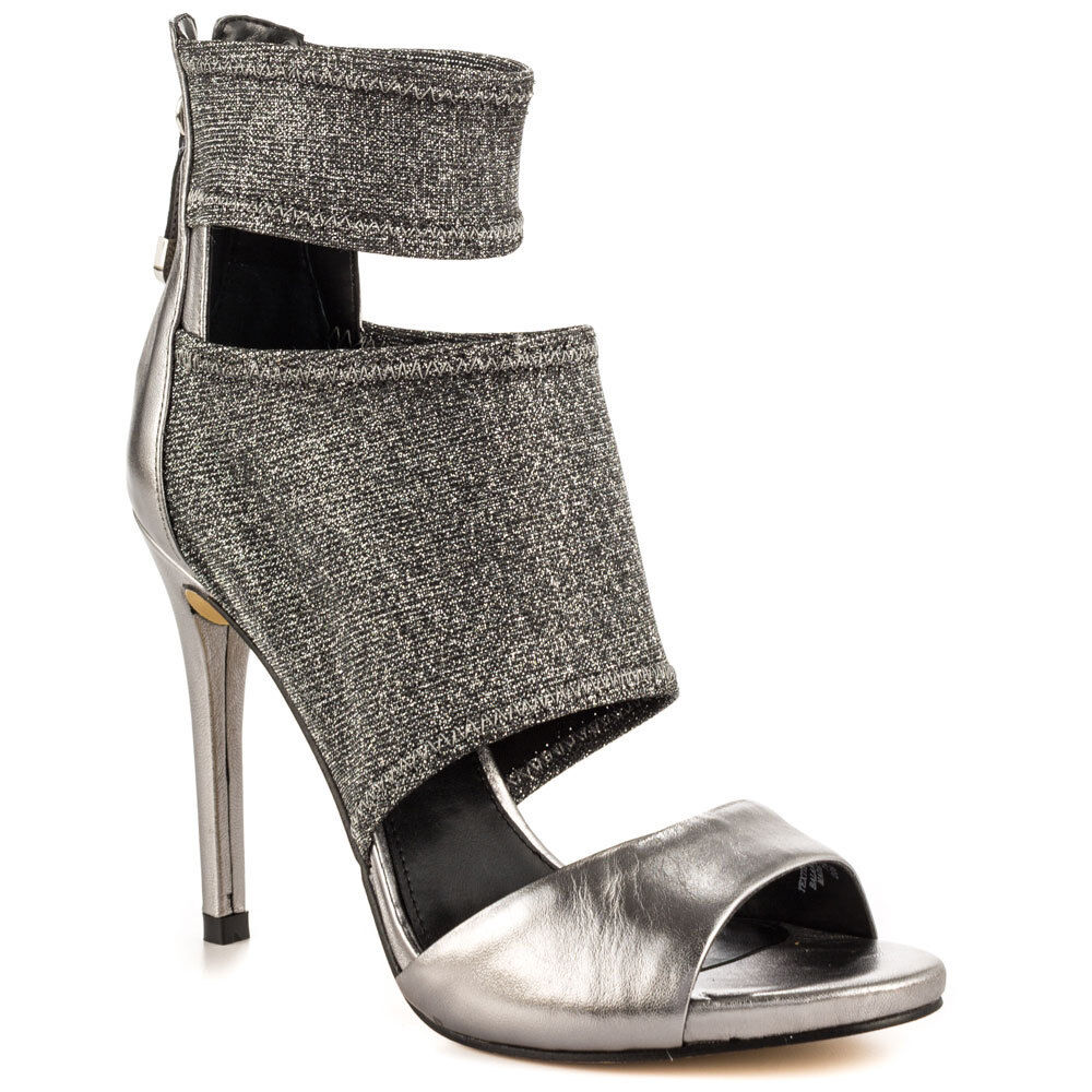 GUESS Cayen Open Toe Heels Heels Heels - Save Over  70 Look Stunning in Silber f270ab