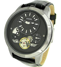 6ccb6b792489 Fossil Men s Grant ME1126 Black Calf Skin Automatic Watch for sale ...