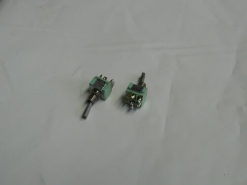 Warranty Used 2- Alcoswitch Toggle Switches MTF 206N