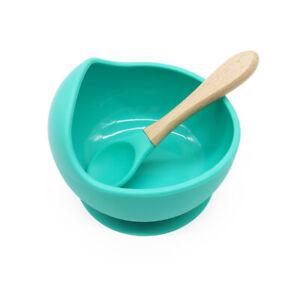 Baby-amp-Toddler-Bowl-amp-Spoon-Set-MINT-Winnie-J-Free-Shipping