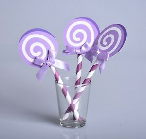 Details about lollipop sticks cake toppers table decorations party baby  shower afternoon tea 6