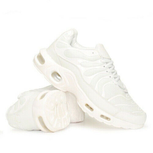 Mens White Air Shock Absorbing Casual Running Boys Trainers Jogging Gym Sneakers