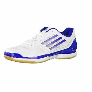 Details about Adidas 'Adizero Crazy Volley Pro' Men's WhiteBlue Lace Up Indoor Trainers