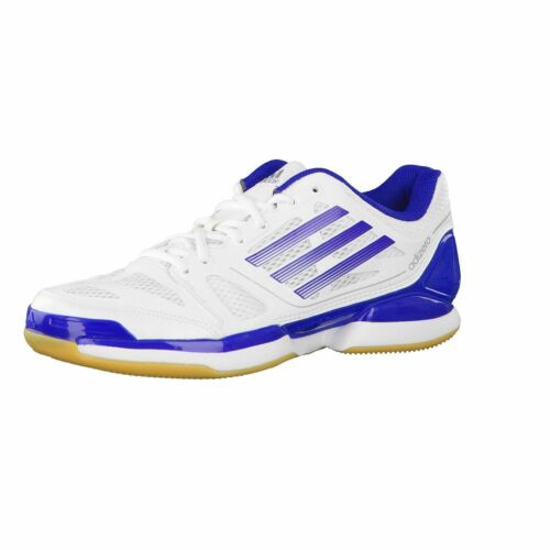 Adidas 'Adizero Crazy Volley Pro' WhiteBlue Lace Up Indoor Trainers BIG SIZES