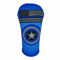 Thin Blue Line Flag Golf Club Head Cover Collection Made In The Usa Beejos Usa