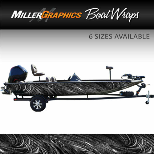 Boat Wrap Kit 3M Cast Vinyl Graphic Decal Spiral Grey 6 Sizes Available