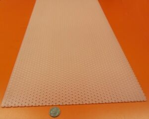 ".016/"" Thick x 24/"" x Per Ft/"" Brass Perforated Extra Thin Sheet .040/"" Hole Dia."