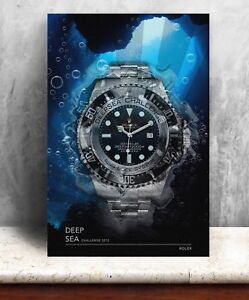 Details About Rolex Deep Sea Challenge Watch Print Bold Graphic Art On Canvas