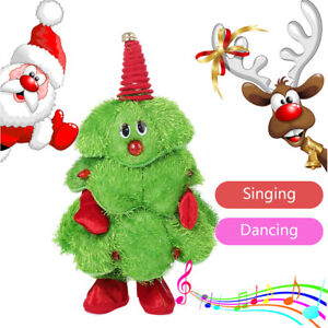 Christmas Dancing Cartoon.Details About Cartoon Christmas Trees Electric Dancing Singing Animated Plush Toy Stuffed Toy