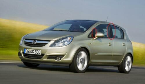 3 /& 5 Door Carbon Fibre Effect Trim Sticker Kit 2006 - Vauxhall Corsa D /& E