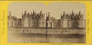 Château Da Chambord Francia Foto Stereo BK Parigi Vintage Albumina Ca