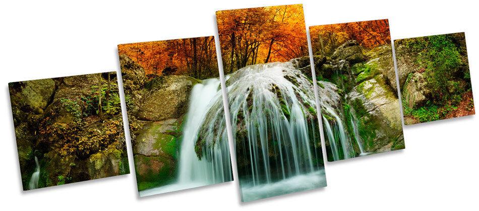 Bosque paisaje cascada río MULTI LONA pa arte rojo  arte pa impresión del marco de la caja 0baf88