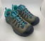 Air-Walk-Buckley-Hiker-Boys-Shoes-Light-Brown-Turquoise-Blue-rugged miniature 2
