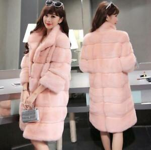 Coat Outwear Jakke Parkas Furry Thicken Fur Trench Luksus Kvinders Slim Long Fit vcWPIS