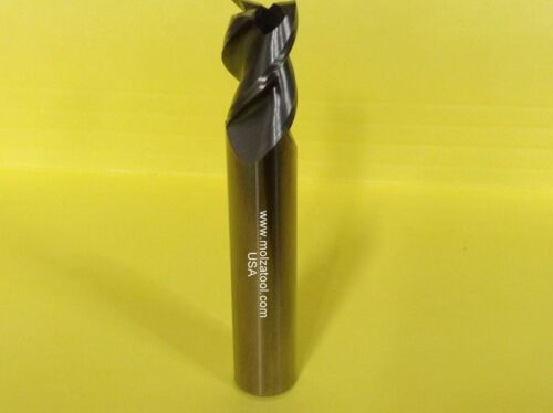 "CARBIDE END MILL 1//2/"" DIA 1-1//4/"" LOC 3 FLUTE 37 DEGREE HELIX FOR ALUMINUM 3/"" OAL"