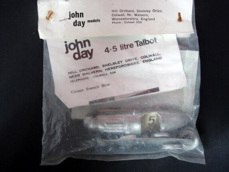 John Day Kit  - 4.5 Litre TALBOT LAGO LAGO LAGO 1948 Grand Prix Car 1 43 White Metal Kit 7fc9f9
