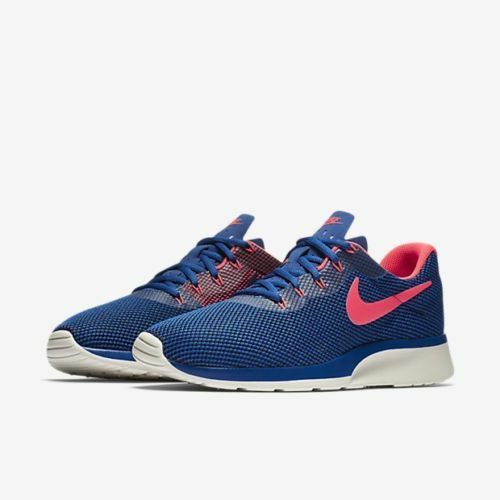 40a2062e9ab7 Nike Tanjun Racer Mens 921669-402 Gym Blue Solar Red Running Shoes Size 8.5  for sale online