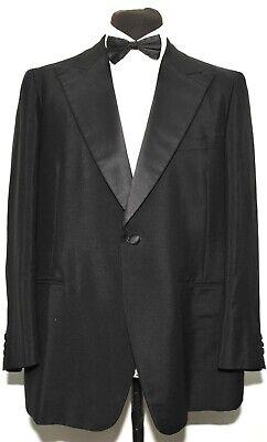 "Affidabile Vintage Su Misura Mohair Picco Lapel Cena Suit Smoking Dj 44"" R 40"" W 1970s-mostra Il Titolo Originale"