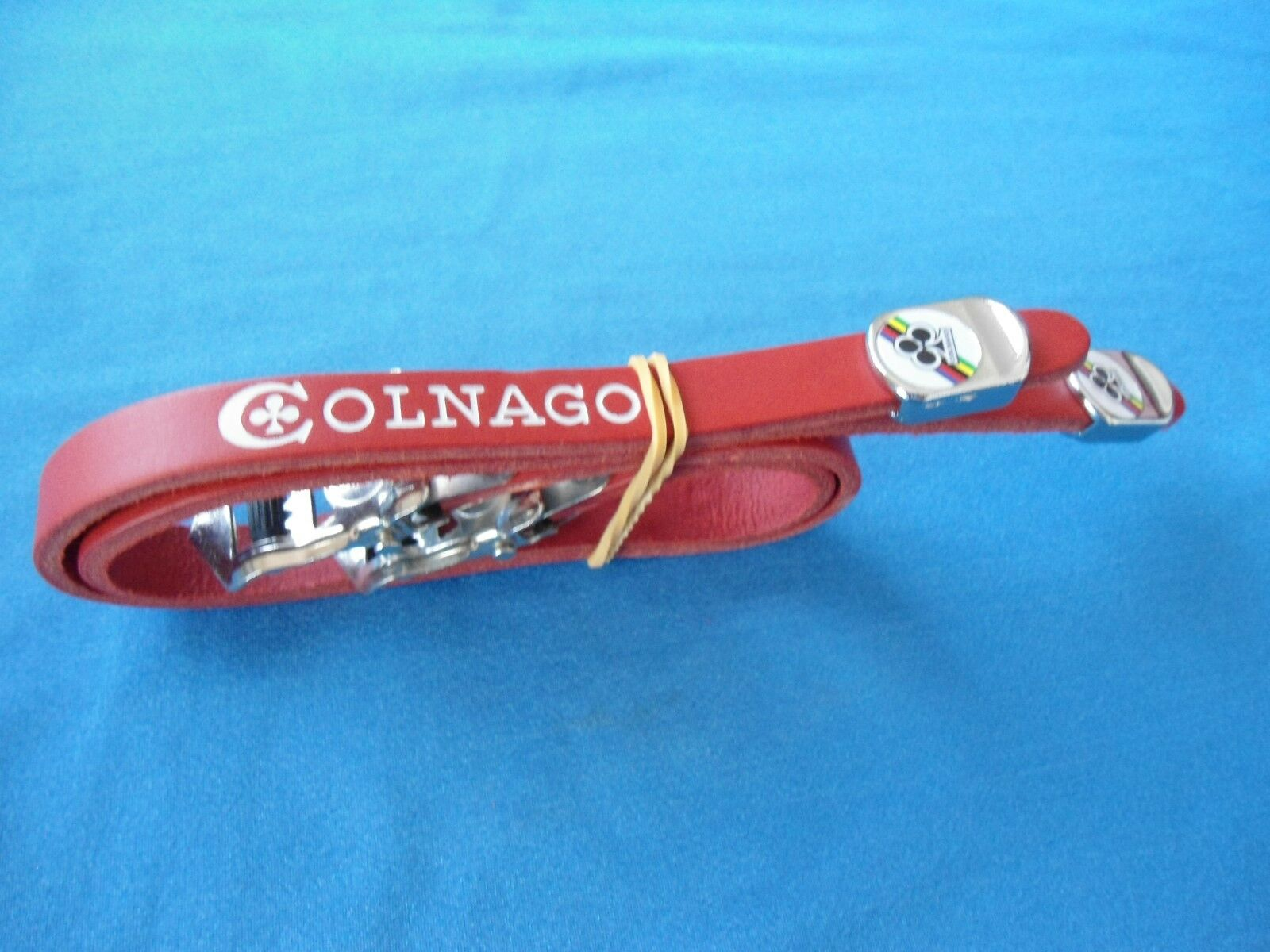 NEW Vintage Colnago Leather Toe straps made in  Red   wholesale store