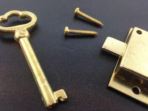 Grandfather or Grandmother Clock Flush Mount Front Door Lock and Key Set