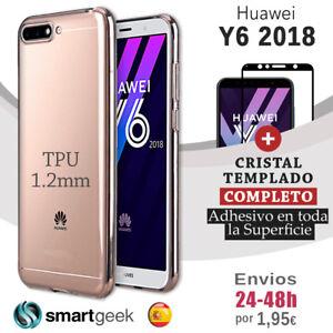 FUNDA-TPU-TRANSPARENTE-para-HUAWEI-Y6-2018-honor-7a-CRISTAL-TEMPLADO-COMPLETO