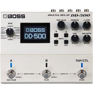 BOSS-DD-500-Digital-Delay-Buffered-True-Bypass-Looper-Guitar-Pedal