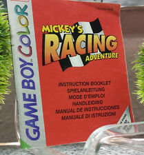 MICKEY'S RACING ADVENTURE original Nintendo Gameboy Color Spielanleitung