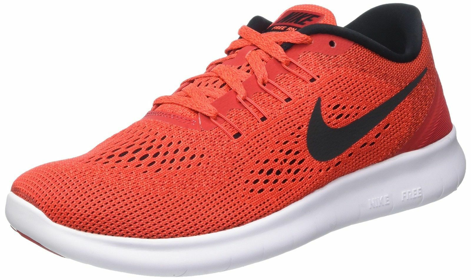 MEN'S NIKE FREE RN RUNNING SHOES SNEAKERS 831508 600 RED / BLACK SIZE 11.5 NEW