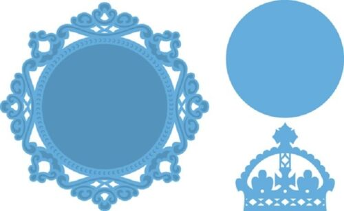 Marianne creatables Corte Embossing Die PETRA del círculo y Corona lr0317 reducido