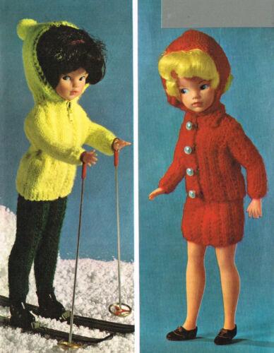 "V Doll 26 12/""  Dolls clothes knitting pattern.Laminated copy."