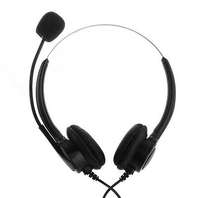 4-Pin Call Center Corded Operator Telephone Headset Headphone with Microphone