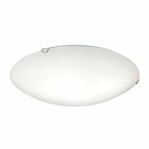 Boing Deckenleuchte 30 cm rund mit weißem Lampenschirm aus Glas Deckenlampe