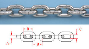 30-ft-STAINLESS-STEEL-BBB-ANCHOR-CHAIN-316L-1-4-034-DIN-766-Repl-Suncor-S0601-0007