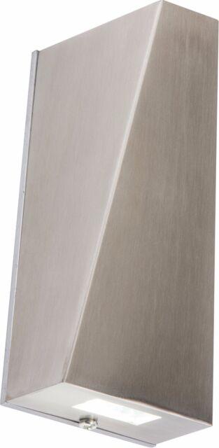 Moderno Acero Inoxidable Doble Luz DE PARED LED IP44 Arriba Y Abajo Exterior