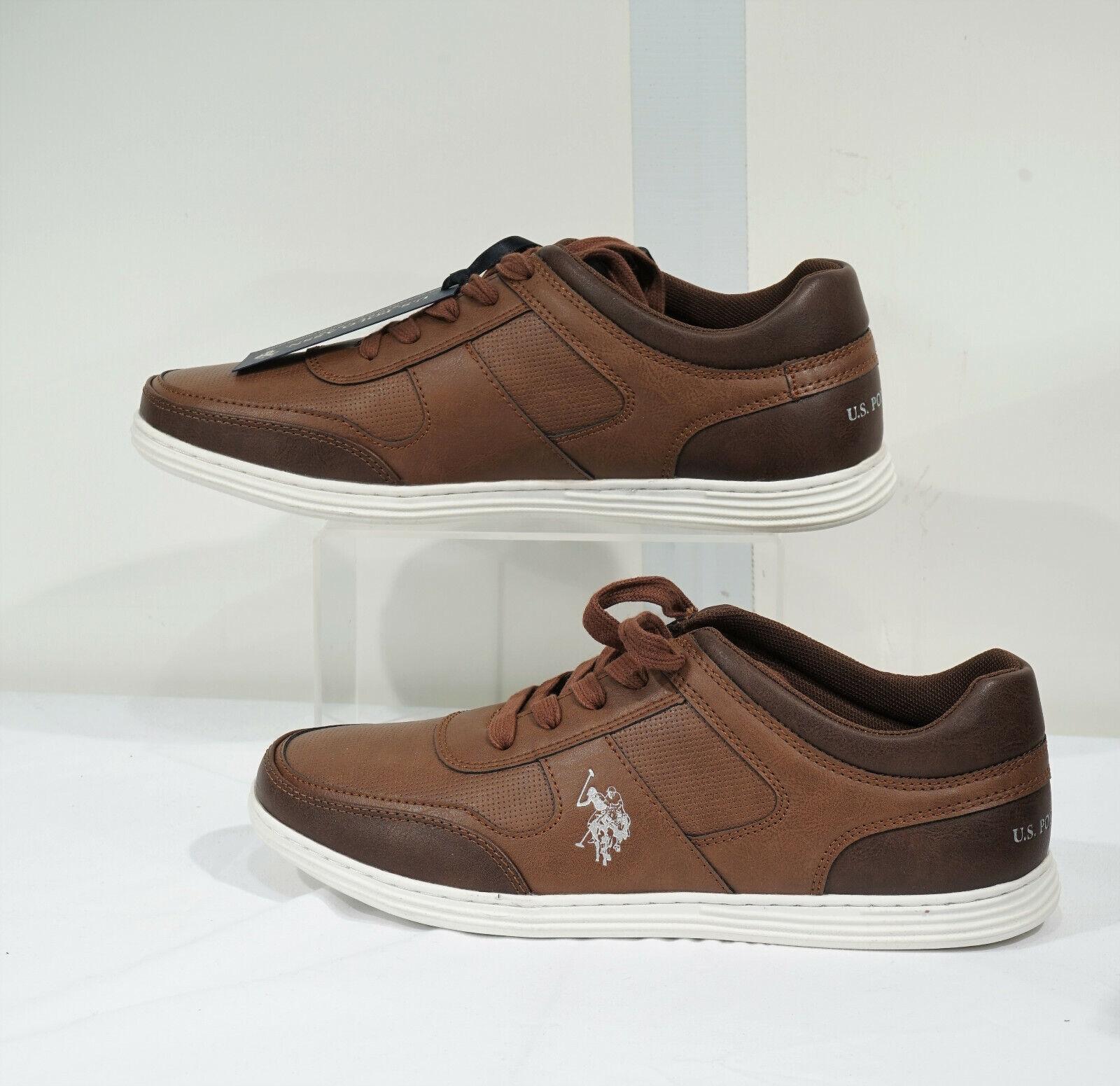 NIB US Polo Assn Chocolate Brown 'Slugger' Lace Up Sneaker Sz 10.5 M