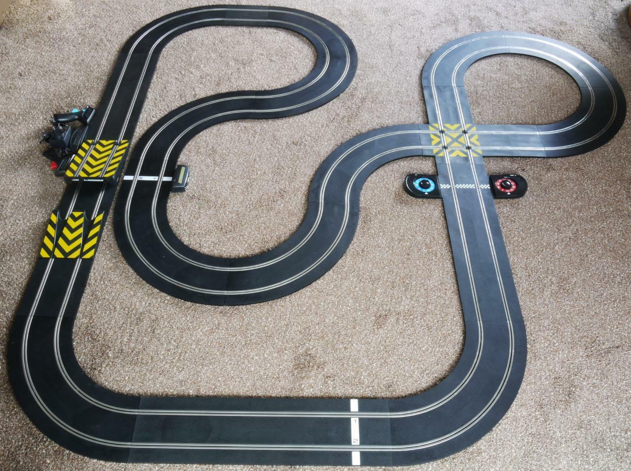 Scalextric mise en page Crossover tangentes courbes courbes courbes Lap Counter Leap rampe transformateur f7b747