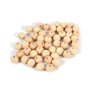 50X-Holzkugeln-gebohrt-Holzperlen-natur-20mm-Kugeln-Perlen-Loch-Basteln-Buche