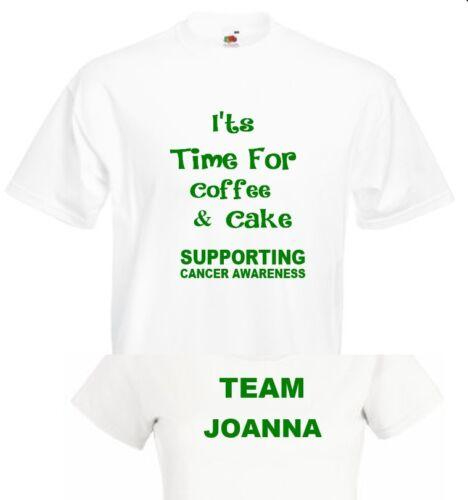 Personnalisé Gâteau T Shirt Café Matin Top Don à Macmillan