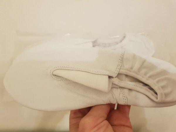 100% De Calidad Chicos/chicas Cuero Zapatos De Ballet Reino Unido Tamaño Pre-cosidas Elásticos Rosa Negro Blanco-ver