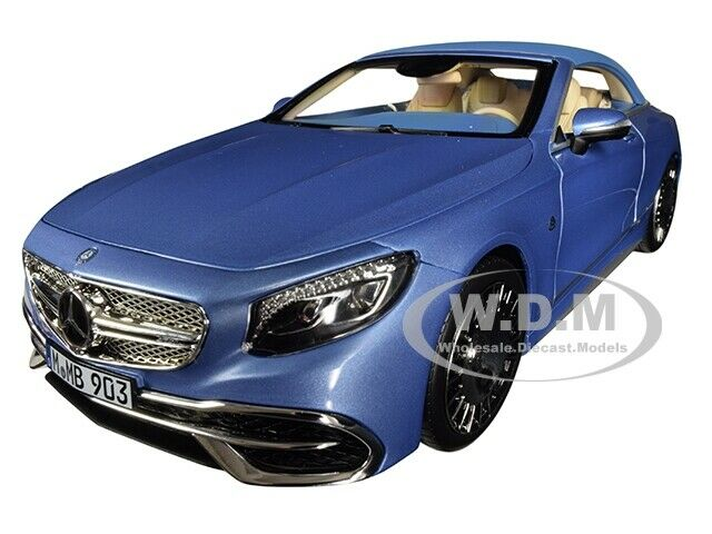 2018 MERCEDES MAYBACH S650 CABRIOLET MET. BLUE 1/18 DIECAST CAR BY NOREV 183471