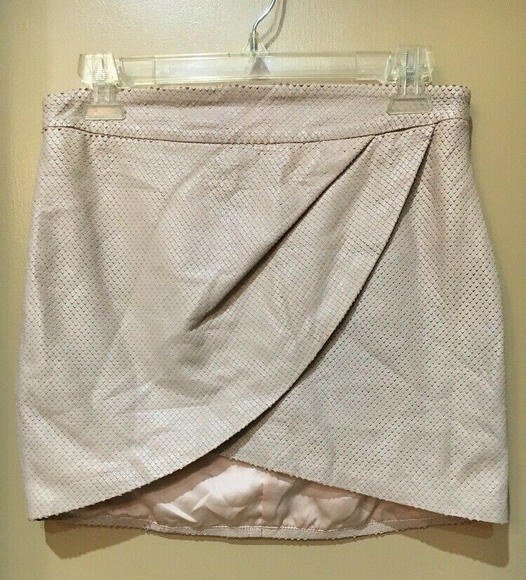 Mason bluesh Perforated Leather Mini Wrap Skirt Size 4
