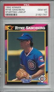 1992 Kenner Starting Lineup - Ryne SANDBERG - PSA 10+++ HOF Cubs