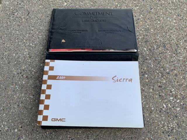 2004 04 Gmc Sierra Owners Manual
