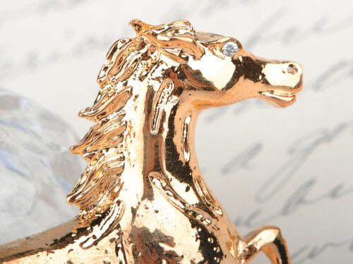 Gold Plated Horse Jockey Equestrian Animal Fashion Pin Brooch Wedding Holiday