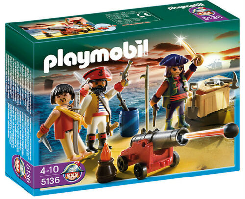 PLAYMOBIL 5136 Pirati Commander con Armory