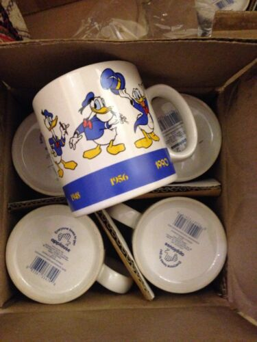 Donald Draw Donald Duck Through The Years Mug Cup Applause New Rare Disney vint