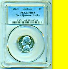 1970-S PCGS PR63 TEST PIECE ? Only PROOF Known ?  Ex-NGC ? Jefferson Nickel ? 5c